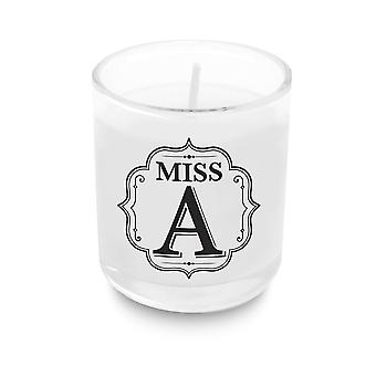 Heart & Home Alphabet Votive Candle -miss A