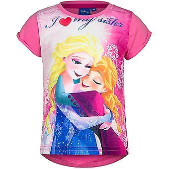 Girls Disney Frozen Elsa & Anna short sleeve T-shirt
