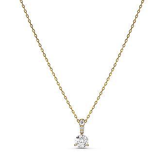 Swarovski halsband 5511557-Women ' s White Crystal Gold m tal halsband