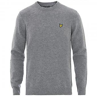 Lyle & Scott Mid Grey Crew Neck Lambswool Knit Jumper KN1118V