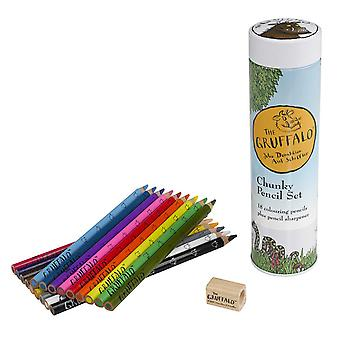 Chunky Pencil Set & Sharpener in Tin The Gruffalo