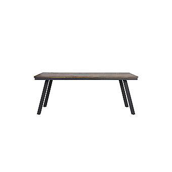 ライト&リビングダイニングテーブル200x90x78cm セイラウッドグレー
