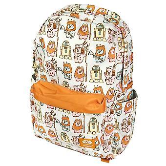 Loungefly x Star Wars Pastel Ewok AOP Laptop Backpack