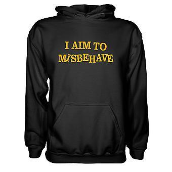 Herre Sweatshirts Hættetrøje-Jeg sigter mod at opføre sig dårligt