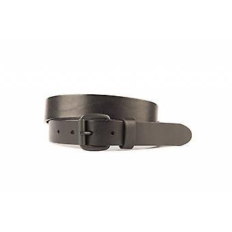 Bella cintura nera con opaco nero Roller Buckle
