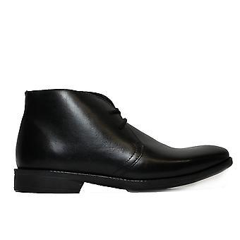 Anatomické Curitiba černé kožené pánské krajky nahoru inteligentní chukka boty