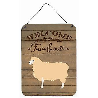 English Leicester Longwool Sheep Welcome Wall or Door Hanging Prints
