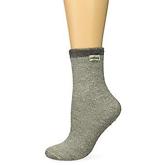 Dearfoams Women's Marled Knit Cabin Sock Slipper, Grey, Size 8.0