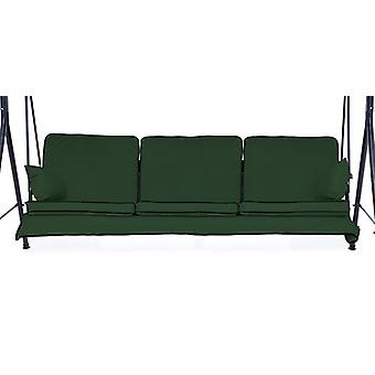 Gardenista Garden Swing Hammock Bench Cushion | Canopy Outdoor Patio Furniture Replacement Cushion Seat | Water Resistant Soft & Comfortable | 3 Seater (Green)