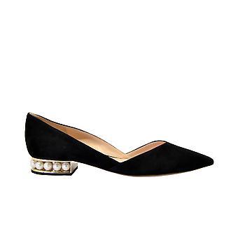 Nicholas Kirkwood Casatidorsay Women-apos;s Black Suede Flats
