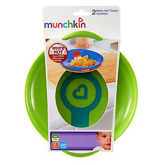 Munchkin White Hot plates (Green/Orange) #31288