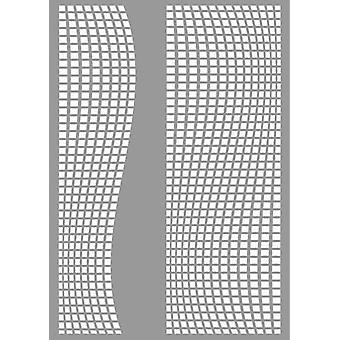 Pronty Mask stencil Square ondas 470.803.047 A4