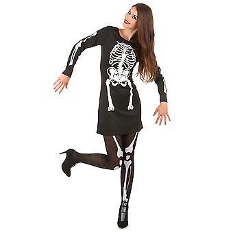 Halloween vrouwen skelet vermomming