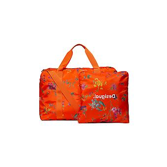 Desigual Matilda Street Gardens Orange Floral 2 in 1 Gym Duffle Bag with Small Bag