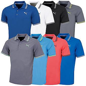 Puma Golf Mens Pounce Pique dryCELL Moisture Wicking Polo Shirt