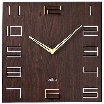 اتلانتا 4472/20 جدار ساعة الجوز ألوان مربع