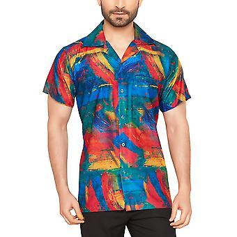 Club cubana men's regular fit classic short sleeve casual shirt ccd10