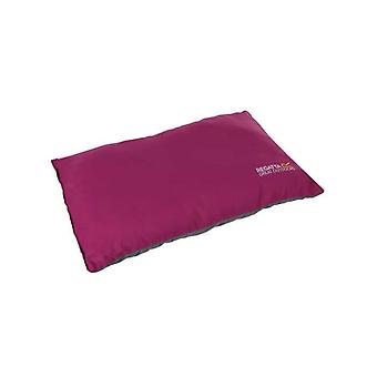 regatta soft-touch camping pillow azalea pink for caravans and at-home use