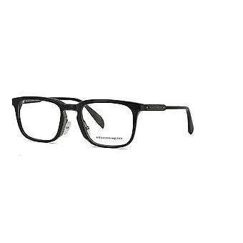 Alexander Mcqueen AM0079O 001 Black-Gunmetal Glasses
