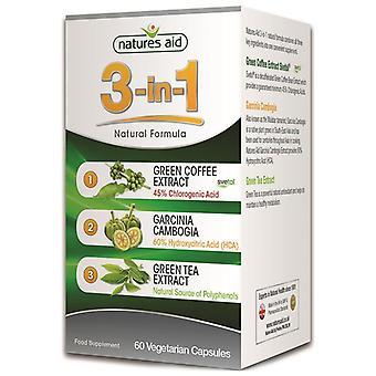 Nature ' s Aid 3-i-1 naturliga formula kapslar 60 (137220)
