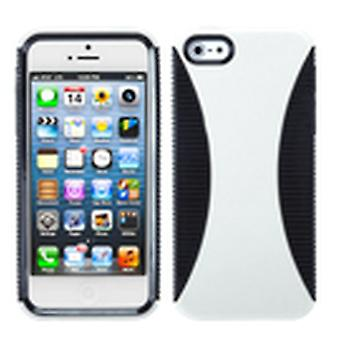 Asmyna Mixy Phone Case pour Apple iPhone 5s/5 - Blanc/Noir