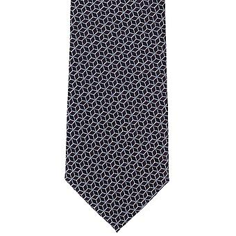 Michelsons of London Interlinking Geo Polyester Tie - Purple