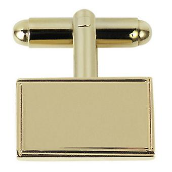 Orton West Plated Rectangle Cufflinks - Gold