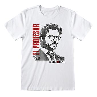 La Casa De Papel Money Heist El Professor Men't-shirt | Mercadoria Oficial