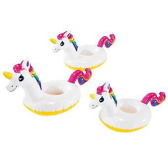 Inflatable Drink Holders, 3x Unicorns - Intex