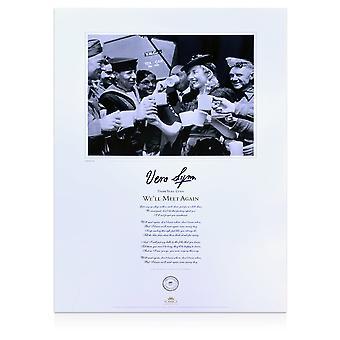 Dame Vera Lynn Signed We'll Meet Again Print