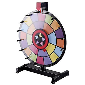 """WinSpin® 15"""" Tabletop Editable Color Prize Wheel 2 Circles Spinning Review Game"""