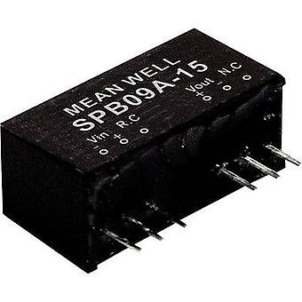 يعني جيدا SPB09A-03 DC / DC محول (وحدة) 2000 mA 9 W لا. من النواتج: 1 x