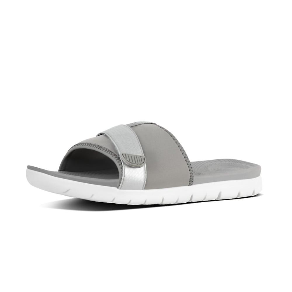 FitFlop Neoflex™ Slide Sandals In Soft Grey-silver 9tevf