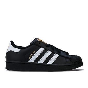 Boy's adidas Originals Children Superstar Foundation Trainers in Black