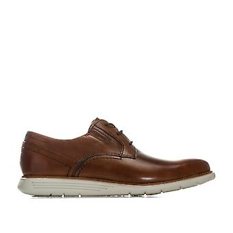 Men's Rockport Total Motion Dress Plain Toe Shoe in Brown