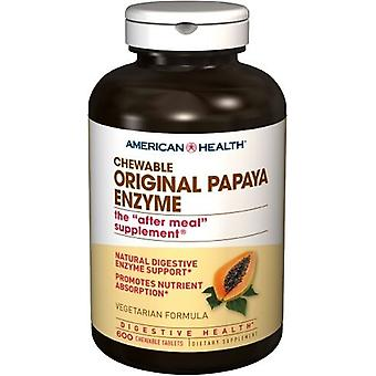 American Health Original Papaya Enzyme Chewable Tablets 600 ct