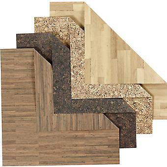 50 Træ og Cork Effekt dobbeltsidet Origami Papir - 15cm