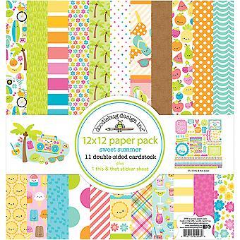 Doodlebug Dwustronny pakiet papieru 12&X12&; 12/Pkg-Sweet Summer