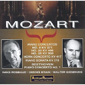 モーツァルト/ギーゼキング - Klavierkonzerte 9 20 25 [CD] アメリカ インポート