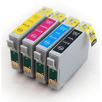 RudyTwos Ersatz für Epson Cheetah Tintenpatrone schwarz Cyan gelb & Magenta (4 Stück) kompatibel mit Stylus D78, D92, D120, DX400, DX4000, DX4050, DX4400, DX4450, DX5000, DX5050, DX6000, DX6050,