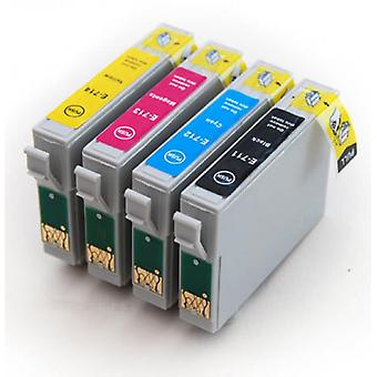 RudyTwos 用エプソン チーター インク カートリッジ ブラック シアン イエロー ・ マゼンタ (4 パック) と互換性のあるスタイラス D78、D92、D120、DX400、DX4000、DX4050、DX4400、DX4450、DX5000、DX5050、DX6000、DX6050、