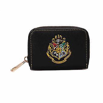 Harry Potter Purse Hogwarts Crest Logo new Official Black Coin