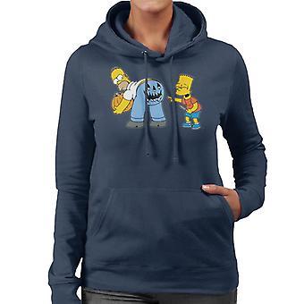 De Simpsons ondeugende Bart Halloween vrouwen ' s Hooded Sweatshirt