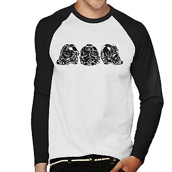 Originale Stormtrooper Imperial TIE Pilot hjelm Trio Menns Baseball lange ermer t-skjorte