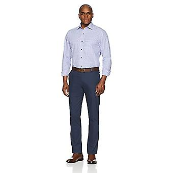 """BUTTONED DOWN Men's Classic Fit Supima Cotton Spread-Collar Dress Casual Shirt, Purple/Blue Check, 15-15.5"""" Neck 32-33"""" Sleeve"""