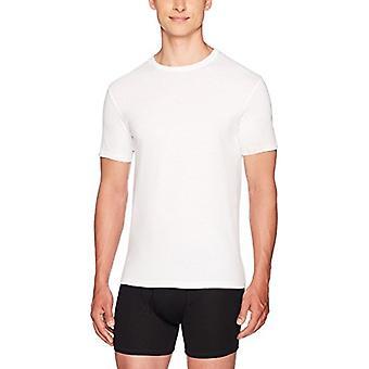 Essentials Men's 6-Pack Crewneck Undershirts, White, Medium