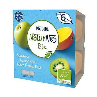 Nestlé Naturnes BIO Tarrina Apple, Mango and Kiwi 4 units