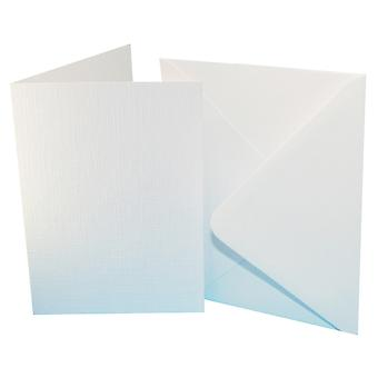 Craft UK Premium Collection Cards & Envelops A6 White Linen