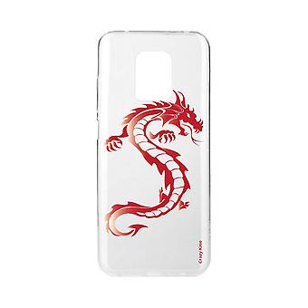 Scafo per Xiaomi Redmi Note 9 Pro Soft Red Dragon