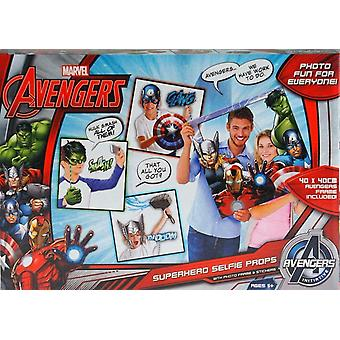 Marvel Avengers Superhero Selfie Props Photo Frame & Stickers